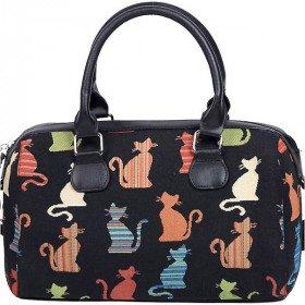 Handtasche mit Pompon Katzen Muster Farbe Tapisserie in La Boite aux Trésors in