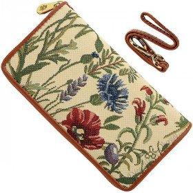 Brieftasche mit Gurt-Garten-Blumen-Muster Tapestry