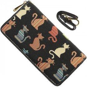 Wallet mit Gurtfarben in Katzen Muster Tapestry
