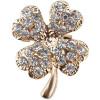 Pin Fancy Clover 4 goldenen Blätter-Set mit Strass