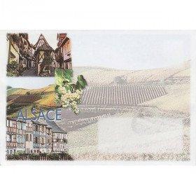 dekoriert Umschlag Elsässer Wein