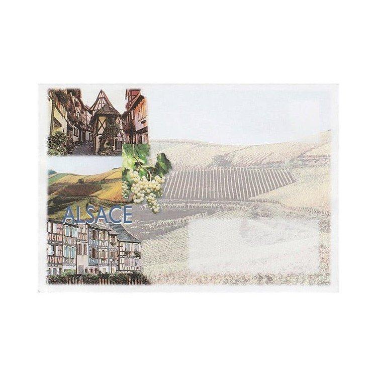 Retrouvez Enveloppe décorée Vignoble d'Alsace à Obernai