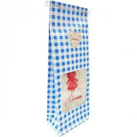 Pochon Geschenk blau handtuch bestickt Storch Elsass zu Bieten in La Boite aux