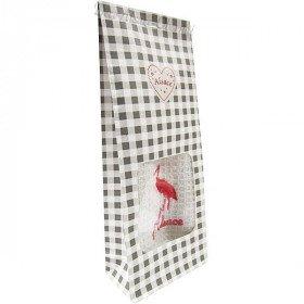 Pochon Cadeau gris Essuie-Main brodé Cigogne d'Alsace à Offrir! à La Boite aux Trésors à Obernai