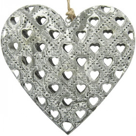 Heart of Alsace in Gray Metal effect Stones laser cutting Hearts