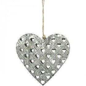 Coeur d'Alsace en Métal Gris effet Pierres découpe laser Coeurs La Boite aux Trésors à