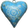 Handbemaltes blaues Kuppelherz des Elsass