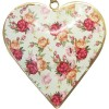 Herz Elsass im metallgrünen Hintergrund Weinlesedekor-Blumenstrauß