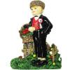 Magnet Décoratif Alsacien portant un Bouquet