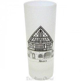 Shooter Satin Dekor Elsässer House Glass in La Boite aux Trésors in Obernai