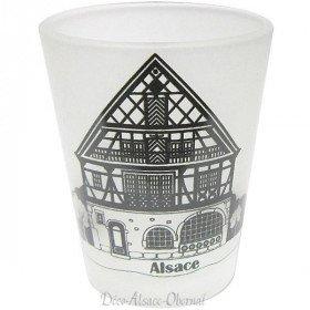 Satin Liqueur Glass, Alsatian House decor La Boite aux Trésors to Obernai