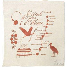 Wine Route Cotton Tote Bag La Boite aux Trésors to Obernai