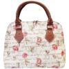 Handtasche mit Griffmuster Rosen Blumen Tapestry