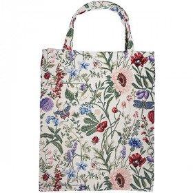 Sac Tote motif Fleurs du Jardin en Tapisserie