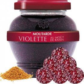 Epikurischer Senf aus dem Elsass Violett mit Traubenmost