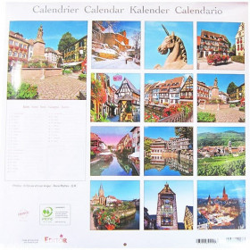 Calendrier L'Alsace en Couleur 2020 à La Boite aux Trésors à Obernai