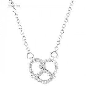 Halsketten-Anhänger mit Verschluss und Brezel Alsace Silber
