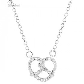 Necklace with clasp and Bretzel pendant from Alsace Silver