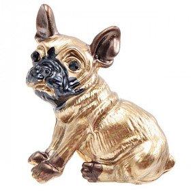 Golden Fancy Brooch French Bulldog Dog Rhinestone