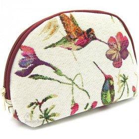 Pochette à zip motif Colibri en Tapisserie