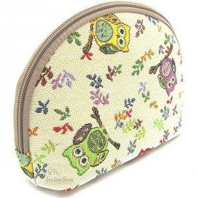 Reißverschlusstasche Muster Owl Gobelin