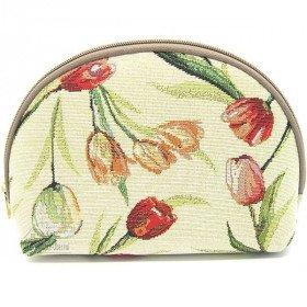Pochette à zip motif Tulipes Fleuris en Tapisserie à La Boite aux Trésors à Obernai