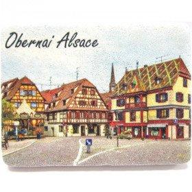 Magnet en Pierre décoratif Place de l'Étoile Obernai