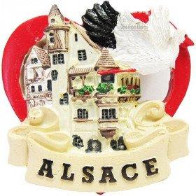 Dekorative Herz-Magnet, Stadt und Stork Alsace