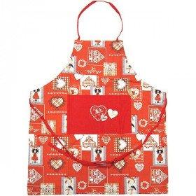 Schürze einstellbar rote Dekoration und Stork Food Hansi Alsace