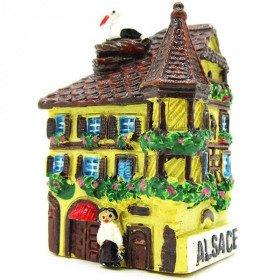 Magnet Décoratif Maison d'Alsace avec Tourelle Jaune