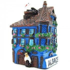 Dekorative Magnet Haus des Elsass mit Turret Blau