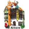 Dekorative Magnet Haus des Elsass in der Farbe mit Revolver