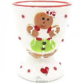Maitele Ceramic Egg Cup Alsatian Gingerbread Decor La Boite aux Trésors to Obernai
