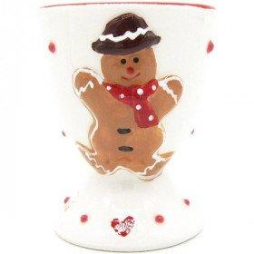 Mannele Ceramic Egg Cup Alsatian Gingerbread Decor La Boite aux Trésors to Obernai