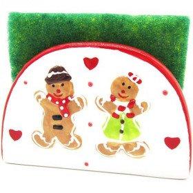 Sponge Holder in Ceramic Mannele decor in Alsatian Gingerbread La Boite aux Trésors to