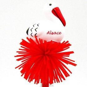 Kugelschreiber Helle Störche im Elsass mit Pompon
