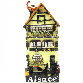Decorative Magnet Caveau d'Alsace Yellow