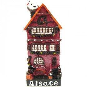 Magnet Décoratif Caveau d'Alsace Rouge
