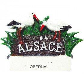 Magnet décoratif Couple de Cigognes d'Alsace à Obernai