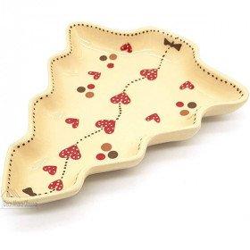 Coupelle forme Sapin de Soufflenheim Nature décor Frise Coeurs La Boite aux Trésors à