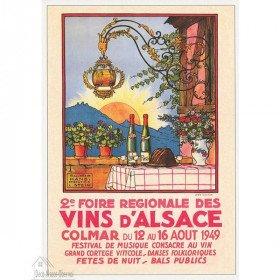 Postkarte Hansi Plakat Messe Elsässer Wein