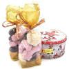 Runde Weihnachtskuchenform dekoriert mit elsässischem Lebkuchen 300 gr