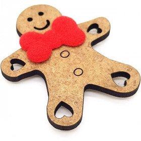 Decorative Magnet Mannele or Wooden Snowman