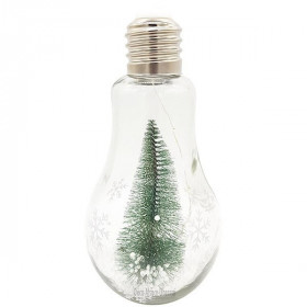 Ampoule décorative en Verre avec LED et Sapin de Noël àLa Boite aux Trésors à Obernai