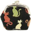 Gate-Muster Mint Schwätzchen auf Hintergrund Farbe Schwarz Tapisserie