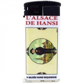 Briquet l'Alsace décor L'Alsace d'Autrefois du Musée Hansi àLa Boite aux Trésors à Obernai