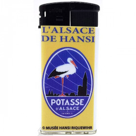 Briquet l'Alsace décor Potasse d'Alsace du Musée Hansi