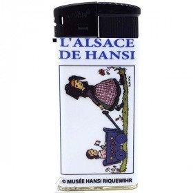 Briquet l'Alsace décor Je promène ma Soeur du Musée Hansi La Boite aux Trésors à Obernai