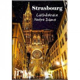 Dekorative Magnet Kathedrale Notre-Dame in Straßburg