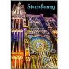 Magnet Dekorative Kathedrale von Straßburg beleuchtetem
